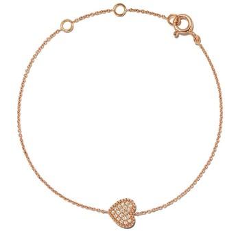 As 29 18kt rose gold Mye heart beading pave diamond bracelet