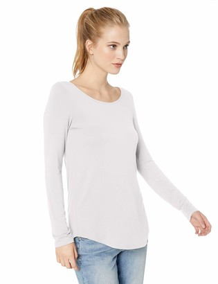 Amazon Brand - Daily Ritual Women's Jersey Long-Sleeve Scoop Neck Tunic