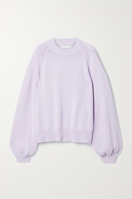I Love Mr Mittens Oversized Cotton Sweater - Lilac