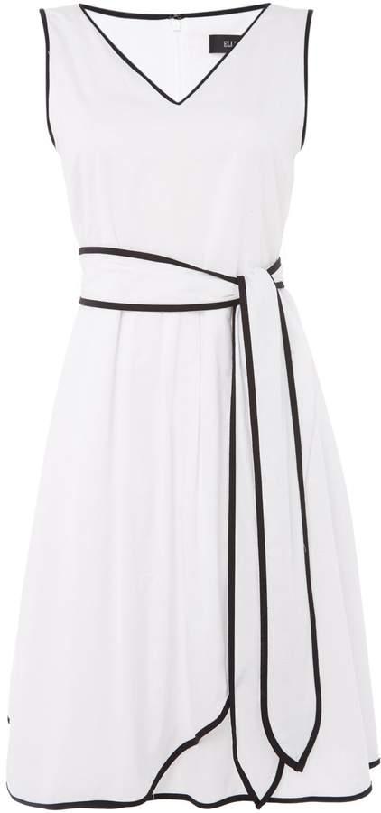 Ellen Tracy Short sleeve v neck wrap dress