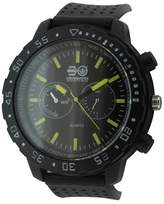 Crosshatch Men's Quartz Watch with Grey Dial Analogue Display and Black Silicone Strap CRS18/B