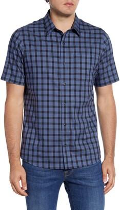 Travis Mathew TravisMathew Within Tolerance Regular Fit Plaid Short Sleeve Button-Up Shirt