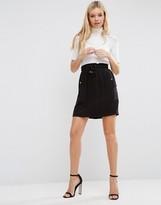 Lavand Elastic Tie Waist Skirt