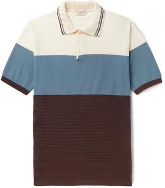 Altea Colour-Block Cotton Polo Shirt