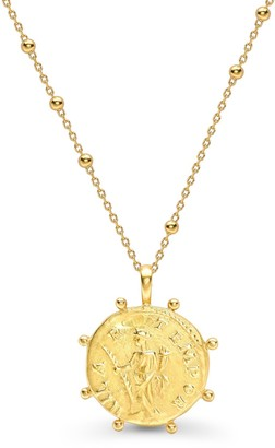 Missoma Lucy Williams Gold Beaded Coin Necklace