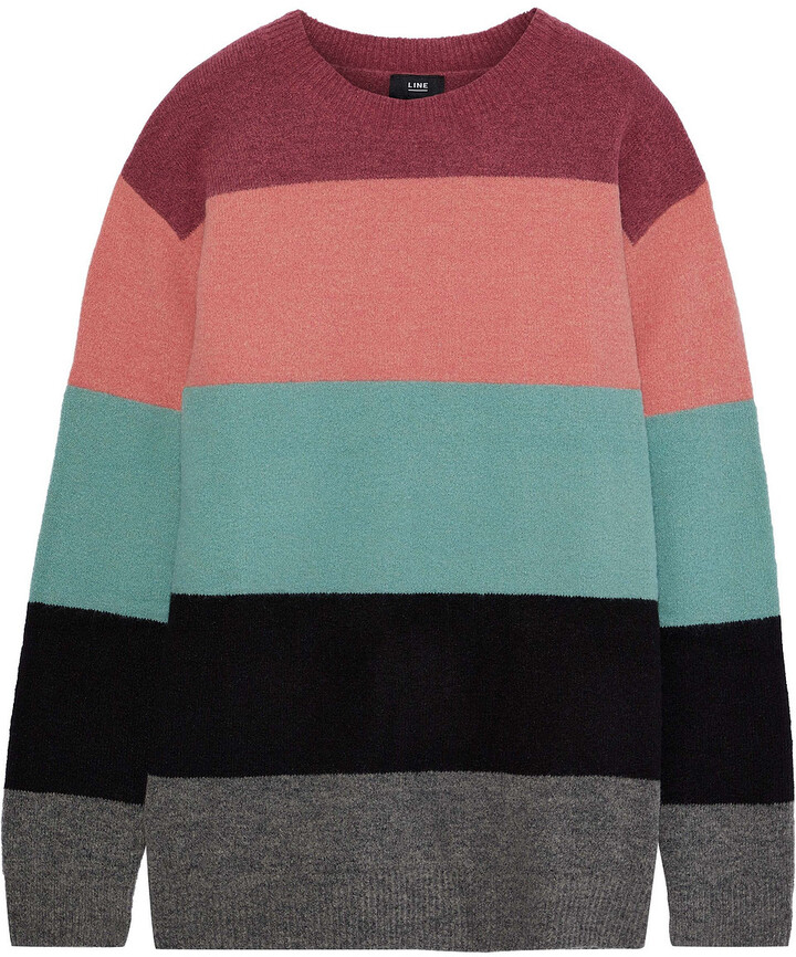 Thumbnail for your product : Line Shannon Striped Intarsia-knit Sweater