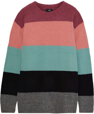 Line Shannon Striped Intarsia-knit Sweater