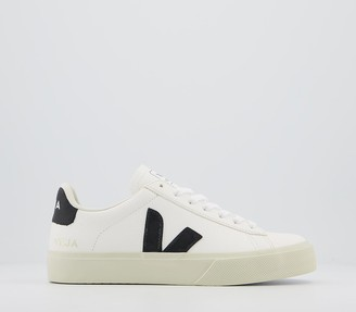 Veja Campo Trainers White Black Leather F