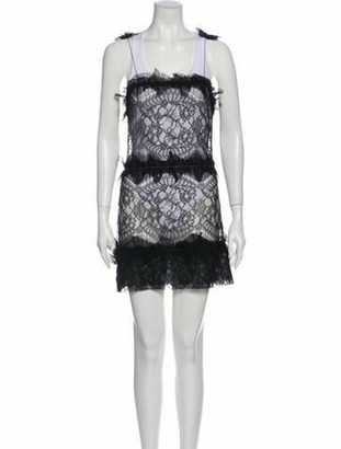 Rochas Lace Pattern Mini Dress Black