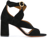Chloé Graphic leaves sandals - women - Leather/Suede - 40