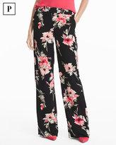 White House Black Market Petite Floral Wide-Leg Pants