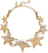 Oscar de la Renta Sea Star - Und Silberfarbene Kette Mit Swarovski-perlen Undkristallen