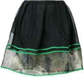 Coach sheer detail mini skirt