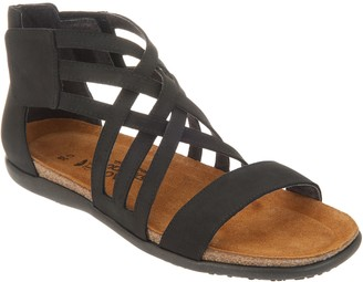 Naot Footwear Leather Multi Cross Strap Sandals - Marita