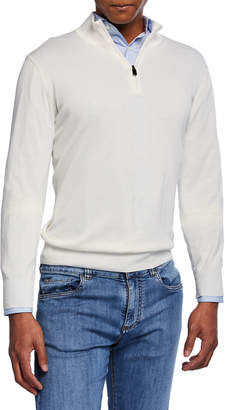 Canali Men's Mock-Neck Jersey Sweater