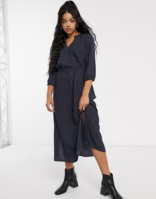 JDY Ilse 3/4 sleeve printed dress-Navy