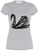 Stella McCartney swan embroidery t-shirt