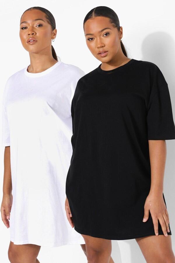 boohoo Plus 2 Pack T-shirt Dresses