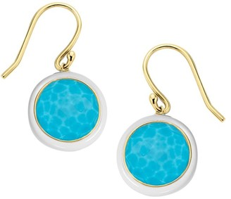 Ippolita Lollipop Carnevale 18K Yellow Gold & Turquoise Doublet Drop Earrings