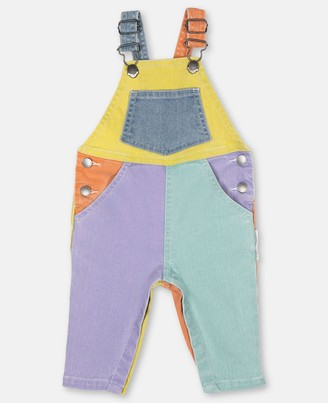 Stella Mccartney Kids Color-block Denim Overalls, Unisex