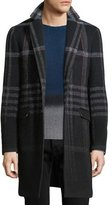 Etro Plaid Wool-Blend Single-Breasted Coat