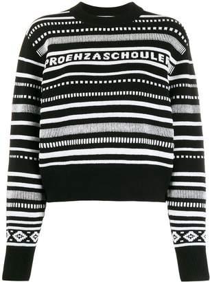 Proenza Schouler knitted logo jumper
