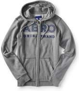 Aero Underlined Logo Zip-Front Hoodie