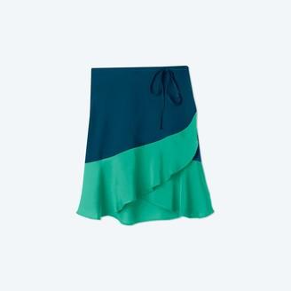 Summersalt The Short Beach to Brunch Wrap Skirt - Seaglass & Seaweed