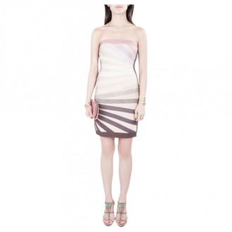 Herve Leger Pink Lace Dress for Women
