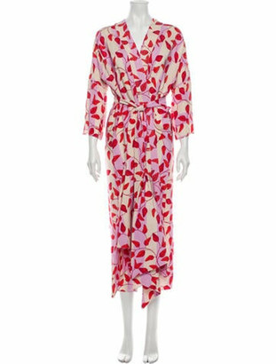 Johanna Ortiz Silk Long Dress Pink