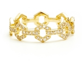 ONE JEWELRY Elza 14K Diamond Link Ring