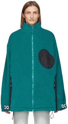 Off-White Blue and Black Equipment Fleece Jacket