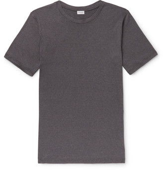 Zimmerli Slim-Fit Melange Stretch Cotton And Cashmere-Blend T-Shirt