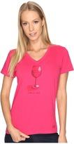 Life is Good Wine Glass Crusher Vee Women's T Shirt