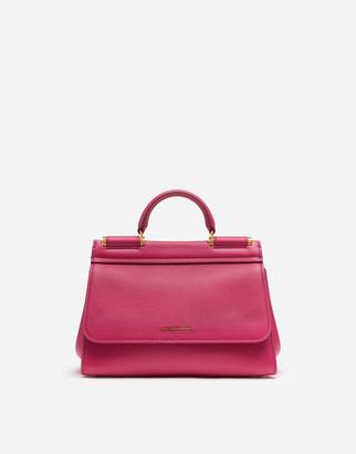 Dolce & Gabbana Soft Small Sicily Bag In Calfskin