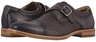 Stacy Adams Fenwick Cap Toe Monk Strap (Gray) Men's Shoes