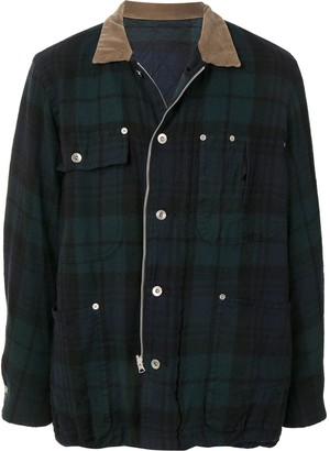 Sacai Check Print Shirt Jacket