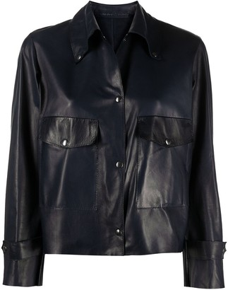 Salvatore Santoro Cropped Shirt Jacket
