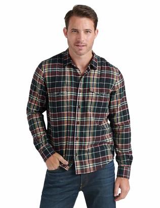 Lucky Brand Men's Long Sleeve Button Redwood Workwear Shirt
