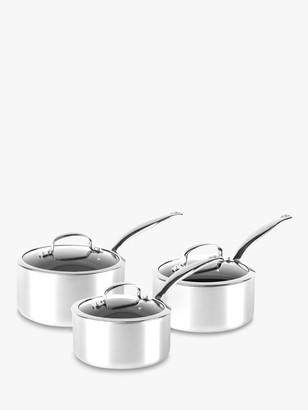 Green Pan Barcelona Evershine Stainless Steel Ceramic Non-Stick Saucepans, Set of 3
