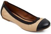 Merona Women's Aimi Elastic Topline Scrunch Captoe Ballet Flats