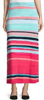 Liz Claiborne Striped Maxi Skirt - Tall