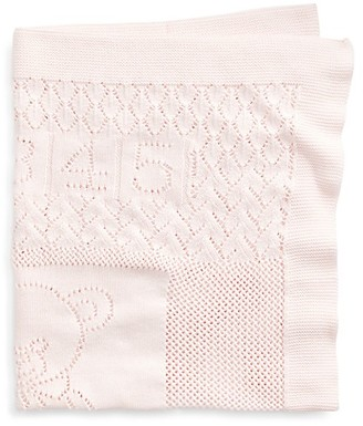 Ralph Lauren Baby's Bear & Heart Cotton Blanket