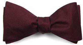 Tie Bar Herringbone Vow Burgundy Bow Tie