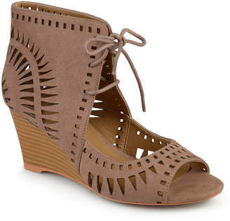 Journee Collection Womens Zola Pumps Peep Toe Wedge Heel