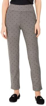 Charter Club Petite Printed Pull-On Pants, Created For Macy's