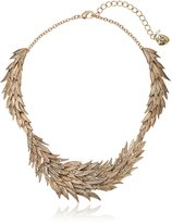 "Betsey Johnson Angels & Wings Layered Feather Collar Necklace, 16.5"" + 3"" Extender"