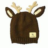 John Deere Antlers Beanie Hat
