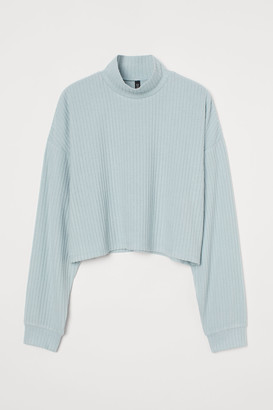 H&M Ribbed Mock-turtleneck Sweater