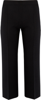 The Row Maria wide-leg silk-blend cropped trousers